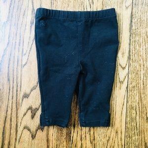 EUC Ralph Lauren Black bow leggings size 3 months